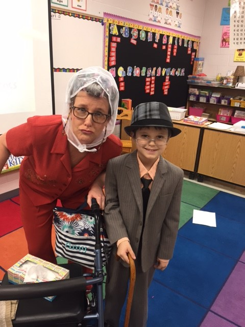 Mrs. Allard with student